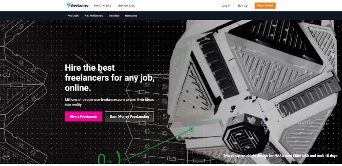 freelancer - hiring and outsourcing platforms