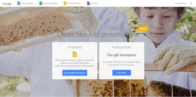 googleslides - presentation sharing platforms