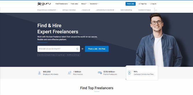 guru - hiring and outsourcing platforms