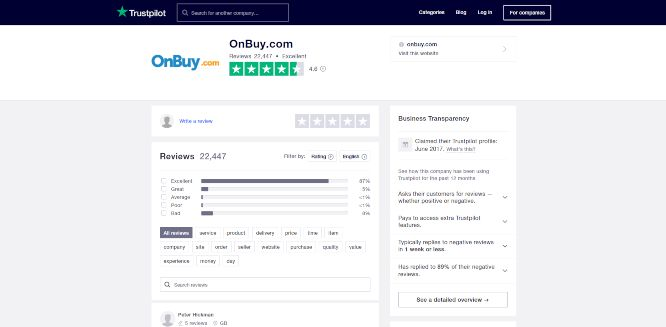 onbuy marketplace review - online reviews ratings