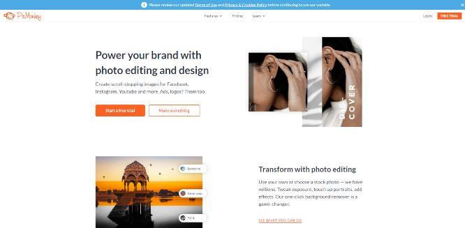 picmonkey - online graphic design tools