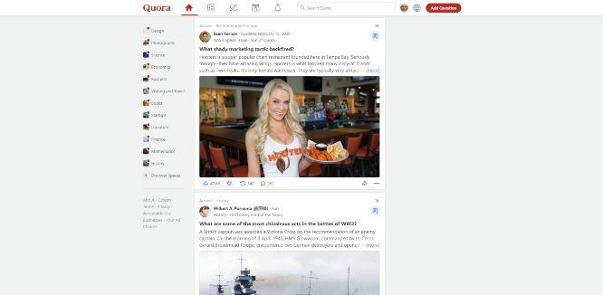 quora - social q&a platforms
