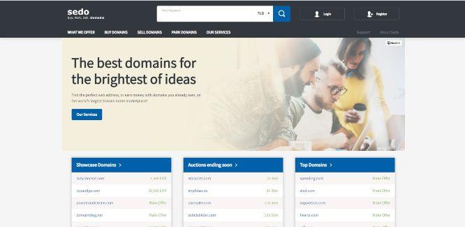 sedo - domain flipping marketplaces