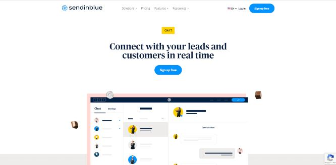 sendinblue - website live chat solutions