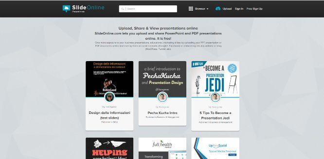 slideonline - presentation sharing platforms