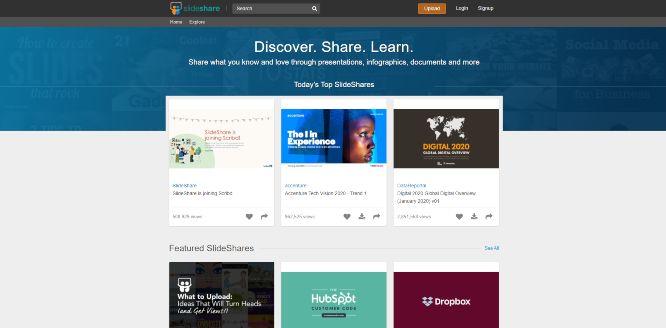 slideshare - presentation sharing platforms