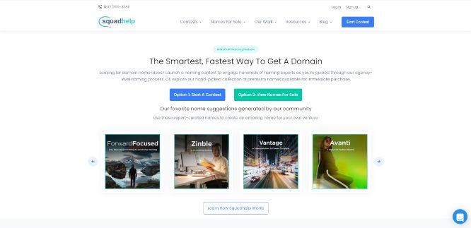 squadhelp - domain name ideas generators