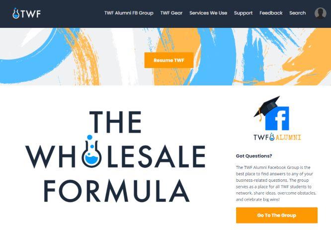 the wholesale formula members area