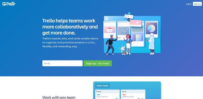 trello - work management tools