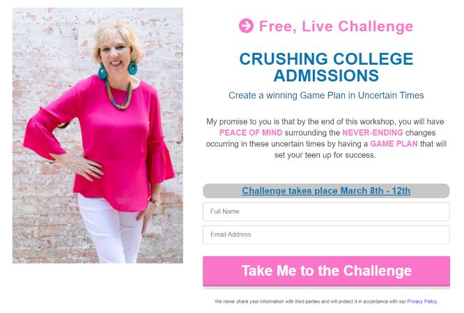 Dr. Gena Lester - the 5-day crush college admissions challenge
