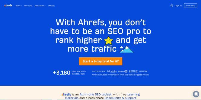 ahrefs - seo tools & platforms