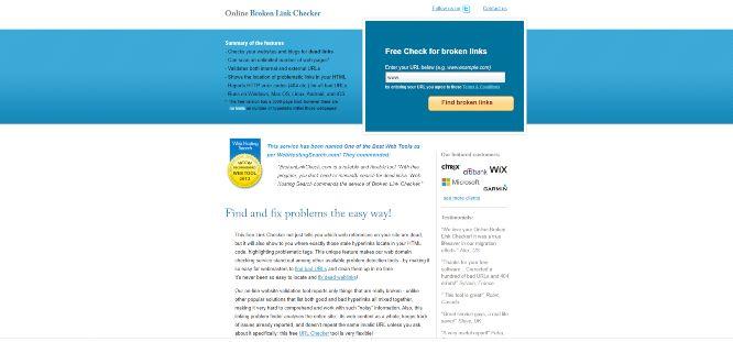 broken link checker - website analytics & statistics tools
