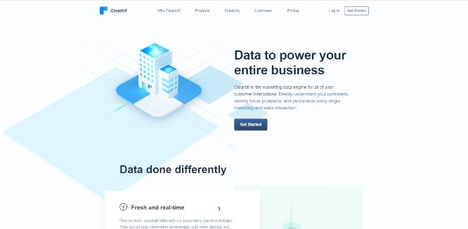 clearbit - lead generation tools & software