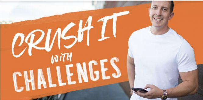crush it with challenges review pedro adao dashboard introduction page