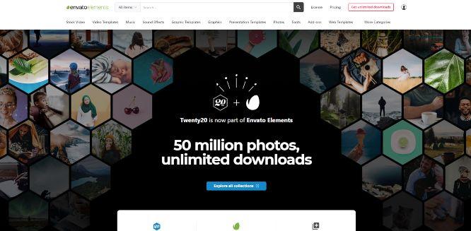 envatoelements - photography marketplaces