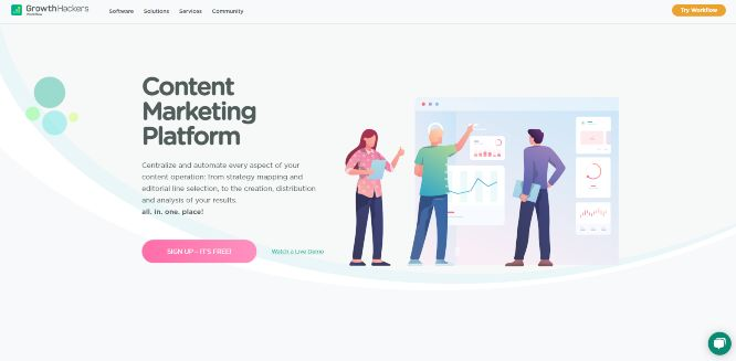 growthhackers workflow - content marketing tools & software