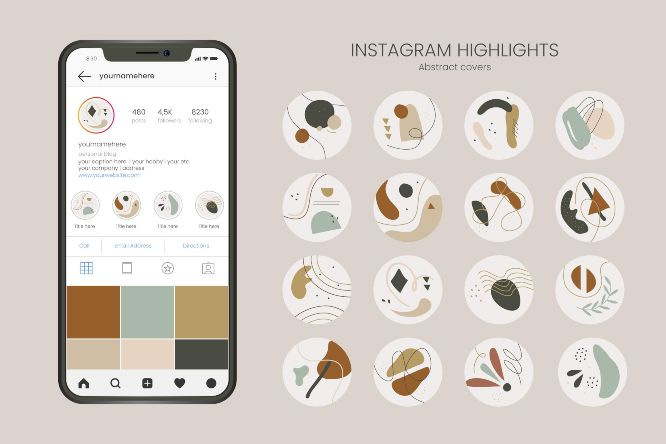 instagram marketing in 2021 - abstract-hand-drawn-instagram-highlights