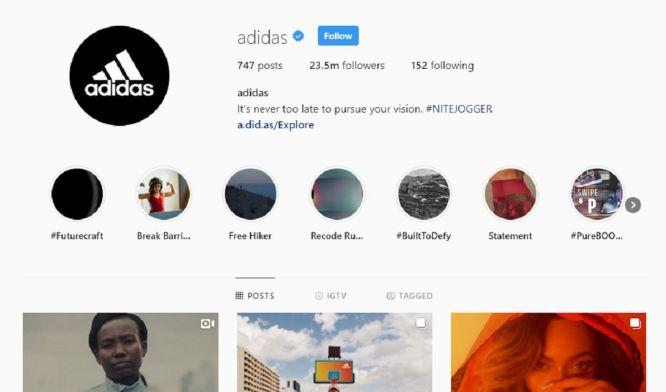 instgram marketing in 2021 - instagram adidas