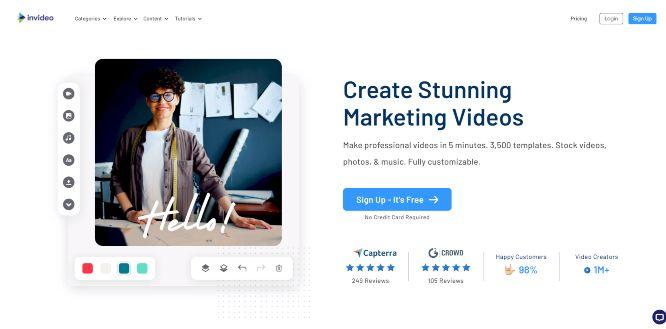 invideo - video templates