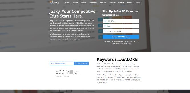 jaaxy - seo tools & platforms