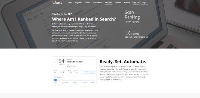 jaaxy - website analytics & statistics tools