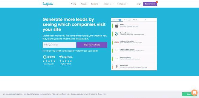 leadfeeder - lead generation tools & platforms