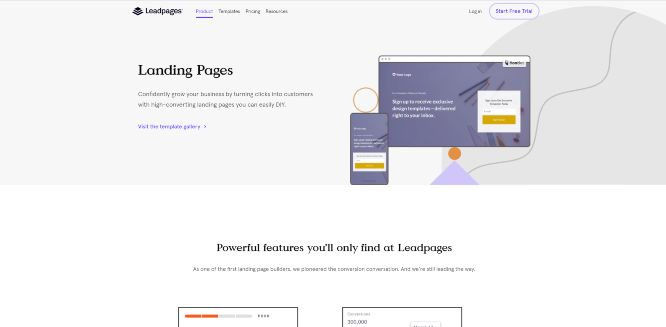 leadpages - landing page builders