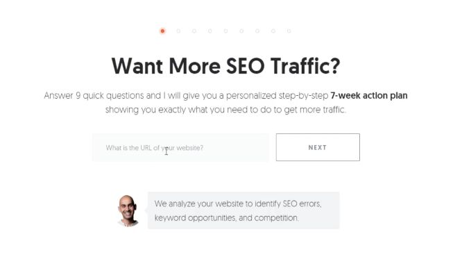 neil patel popup example - boost conversions with exit intent popups