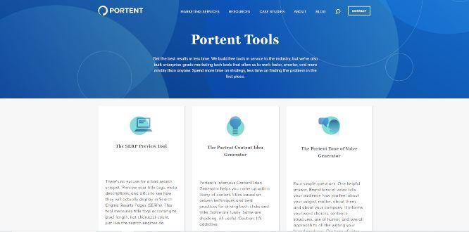 portent tools - content marketing tools & software