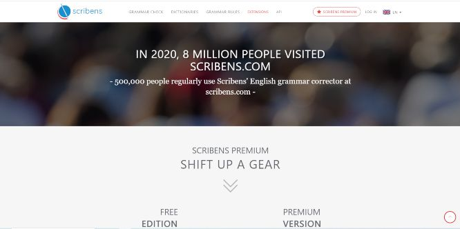 scribens - grammar correction tools