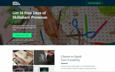 SkillShare Top Class Picks + 40% OFF Annual Coupon Code