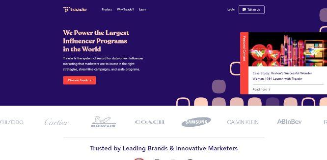 traackr - influencer marketing