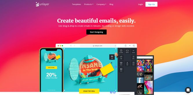unlayer - email newsletter templates & builders v2