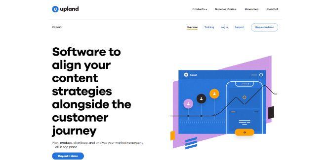 upland kapost - content marketing tools & software