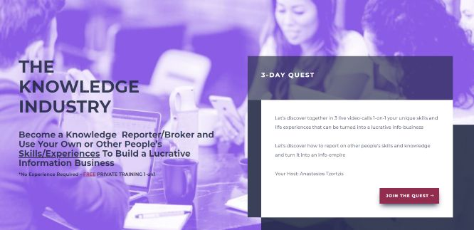 webmarketsupport - the knowledge industry 3-day quest