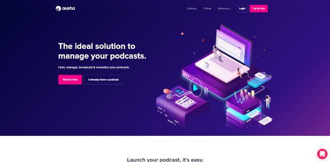 ausha - podcast hosting platforms