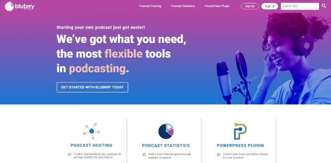blubrry - podcast hosting platforms