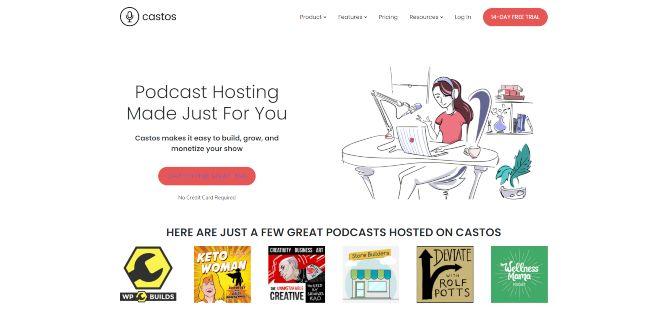 castos - podcast hosting platforms