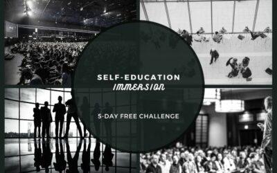 self education immersion video banner black white