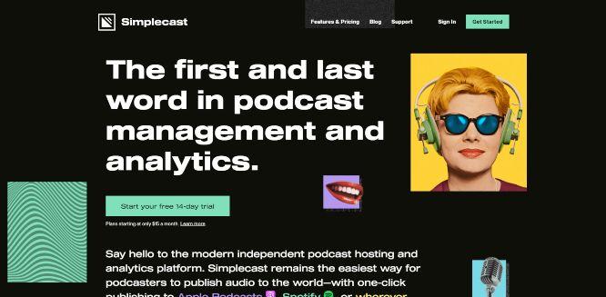 simplecast - podcast hosting platforms