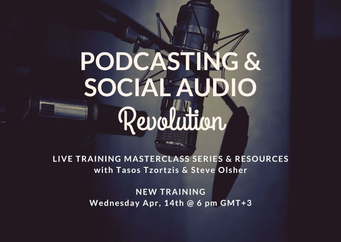 social audio revolution - new live training wed apr 14 featured banner