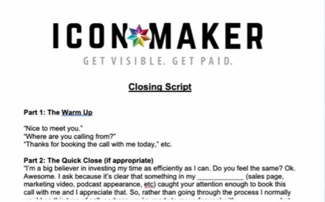 steve olsher audio domination review - icon maekr sales script