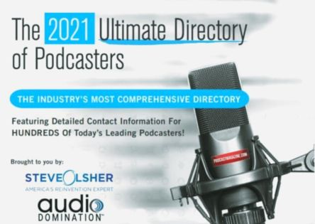 steve olsher the ultimate directory of podcasters 2021 banner for landing pages 444px