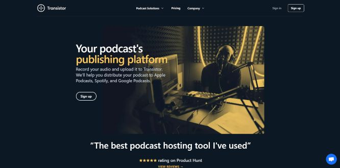 transistorfm - podcast hosting platforms