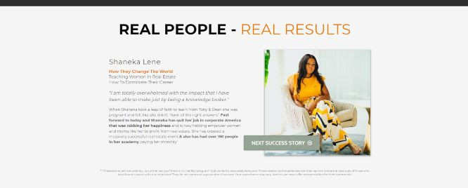 dean graziosi tony robbins project next review real people real results
