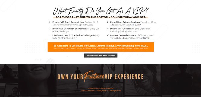 own your future challenge vip upgrade