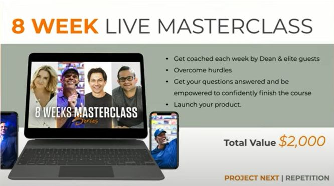 project next review 8 week live masterclass