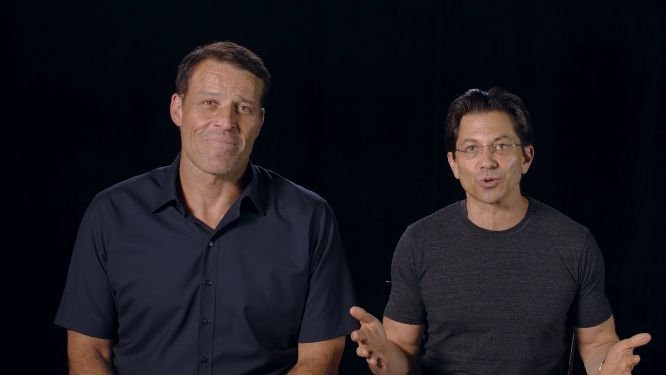 project next review dean graziosi and tony robbins in the studio