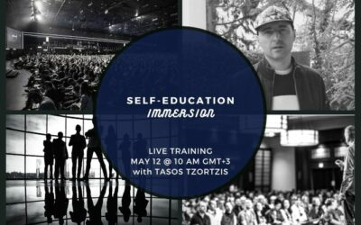 Self-Education Immersion Live Training May 12 @ 10am GMT+3