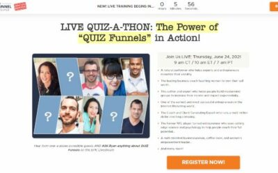 Live Quiz-A-Thon – The Power Of Quiz Funnels In Action
